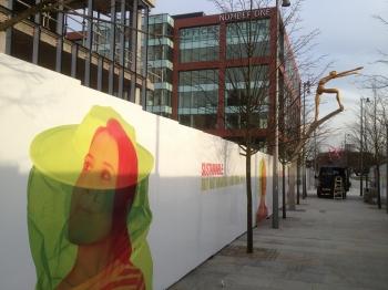 First Street hoarding - billboards