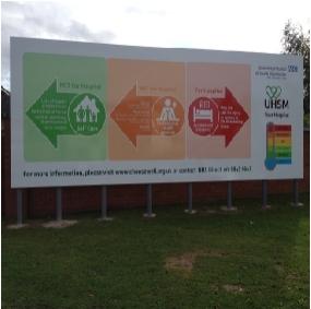 NHS Wythenshawe - billboards